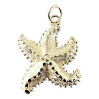 Vintage 14 Karat Yellow Gold Starfish Charm