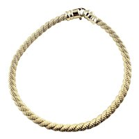 Vintage 14 Karat Yellow Gold Cable Bracelet