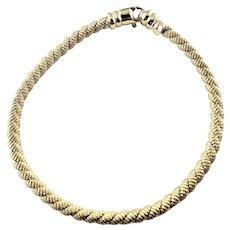 Vintage 14 Karat Yellow Gold Cable Bracelet