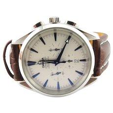 Omega Seamaster Aqua Terra Chronograph Men's Watch Automatic White/Blue Dial
