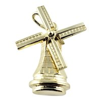 Vintage 18 Karat Yellow Gold Windmill Charm