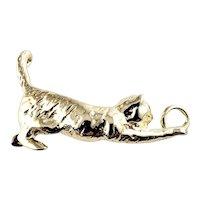 Vintage 14 Karat Yellow Gold Cat Charm