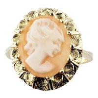 Vintage 14 Karat Yellow Gold Cameo Ring Size 6.75