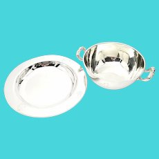 Cartier Sterling Silver Child's Bowl and Plate