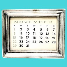 Vintage Tiffany & Co Sterling Silver Frame Perpetual Calendar