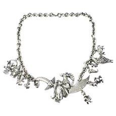 1940 Korda Thief of Bagdad Charm Choker Necklace