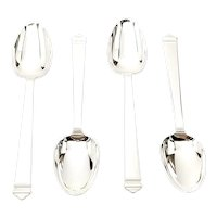 Set of 4 Tiffany & Co Windham Sterling Silver Teaspoons