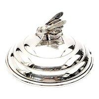 Vintage Blackinton Sterling Silver Honeybee Jar Lid X856