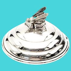 Vintage Blackinton Sterling Silver Honeybee Jar Lid X856