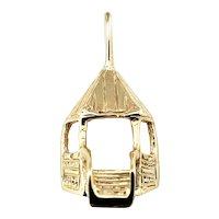 Vintage 14 Karat Yellow Gold Gazebo Charm
