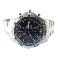 2008 TAG Heuer Aquaracer CAF2112 Men's Watch Blue Dial Stainless Steel Automatic 41mm