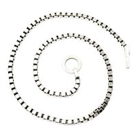 Sterling Silver Box Chain with Diamond Toggle