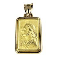 Vintage 19 Karat Yellow Gold Jesus Pendant