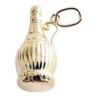 Vintage 14 Karat Yellow Gold Chianti Wine Bottle Charm