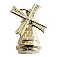 Vintage 10 Karat Yellow Gold Windmill Charm