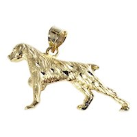 Vintage 14 Karat Yellow Gold Pointer Dog Charm