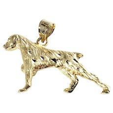 Vintage 14 Karat Yellow Gold Pointer Dog Charm