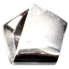 Georg Jensen Denmark Sterling Silver Folded Pendant #231