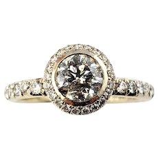 Vintage 18 Karat Yellow Gold Diamond Engagement Ring Size 6