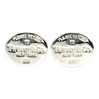 Tiffany & Co Sterling Silver Return To Tiffany Cufflinks