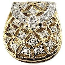 Vintage 18 Karat Yellow Gold and Diamond Handbag Charm