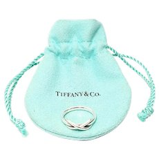 Tiffany & Co Sterling Silver Infinity Ring with Pouch Size 6 1/4