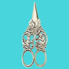 Vintage 800 Silver Grape Scissors