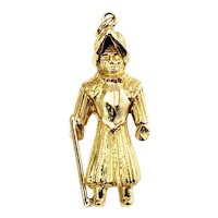Vintage 14 Karat Yellow Gold Ancient Warrior Charm