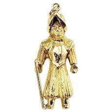 Vintage 14 Karat Yellow Gold Ancient Warrior Charm