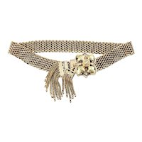 Vintage 14 Karat Rose and Yellow Gold Mesh Bracelet