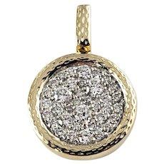 Vintage 14 Karat Yellow Gold Diamond Pendant