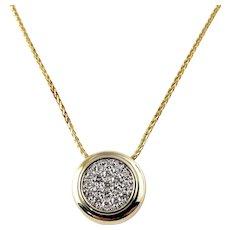 Vintage 14 Karat Yellow Gold and Diamond Pendant Necklace