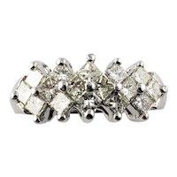 Vintage Platinum and Diamond Ring Size 5.25