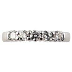 Vintage 14 Karat White Gold Diamond Wedding/Anniversary Ring Size 6.25