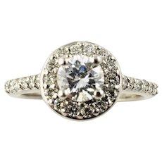 Vintage 14 Karat White Gold Diamond Engagement Ring Size 6