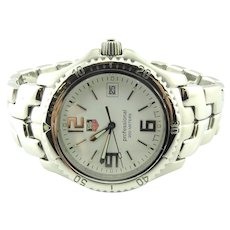 TAG Heuer Professional Link Date Watch WT1114 42mm Stainless Steel Quartz