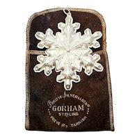 1973 Gorham Sterling Silver Snowflake Ornament