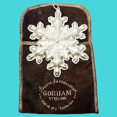 1973 Gorham Sterling Silver Snowflake Ornament