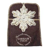 1974 Gorham Sterling Silver Snowflake Ornament