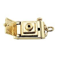 Vintage 14 Karat Yellow Gold Mechanical Camera Charm