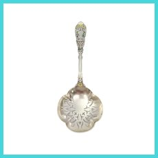 Antique Dominick & Haff Sterling Silver Enamel Renaissance Saratoga Chip Server with Monogram