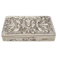 Antique Sterling Silver Repousse Box