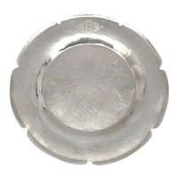 Joel F Hewes Hammered Sterling Silver Plate with Monogram