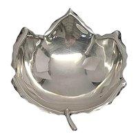 Sciarrotta Handmade Sterling Silver 15 Small Leaf Dish