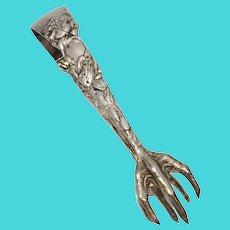 Antique Art Nouveau Claw Tongs
