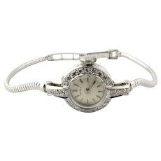 Vintage Vertex Classic Platinum White Gold Diamond Cocktail Watch
