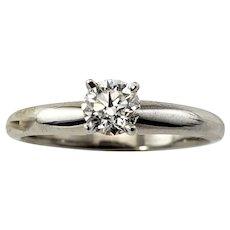 Vintage 14 Karat White Gold Diamond Engagement Ring Size 6 (.30 ct.)