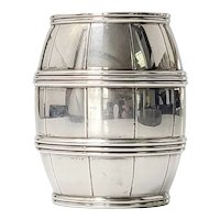 Tiffany & Co Sterling Silver Barrel