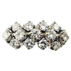 Vintage 18 Karat White Gold and Diamond Ring Size 5.5