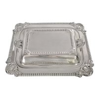 Tiffany & Co Sterling Silver 2 Compartment Covered Serving Dish